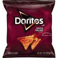 Doritos Spicy Nacho Flavored Tortilla Chips, 1 Ounce, 40 Count