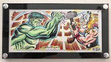 2017 Upper Deck Marvel Premier Al Milgrom Thor Hulk Triple Panel Sketch Card