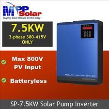 Solar pump inverter 7.5kw 3 phase 380V 400V MPPT PV input max 800V 50hz 60hz