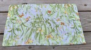 BIBB SPRING MEADOW BUTTERFLIES GREEN ORANGE FLORAL set of 2 standard pillowcases