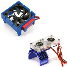 Traxxas Slash 4x4 3340 Cooling Fan + Integy Motor HeatSink Dual Twin Fan T8534B