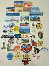 Travel Souvenir Refrigerator Magnets and More Lot of 44