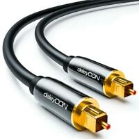 Câble audio digital optique deleyCON - S/PDIF - 2x prises Toslink 2m - fibre...