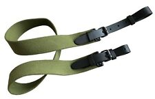 Canvas Rifle Sling with Leather Fastens Shotgun Air Gun Strap Hunting Shooting