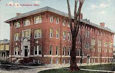 Ashtabula Ohio~Home Beside the Long YMCA~Barren  Tree in Summer c1907 PC