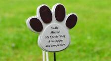 Cat Dog Pet Memorial Tribute Plaque Stake Marker Spike Urn Remembrance Ornament