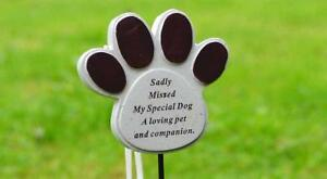 Dog Pet Memorial Tribute Plaque Stake Marker Spike Urn Remembrance Ornament