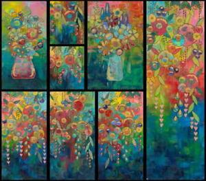 "Sue Penn Digital Print LARGE 48"" Cotton Fabric Panel Picture Perfect PWSP030"