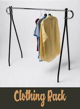 62l X 19w X 48h Single Bar Black Beauty Clothing Rack Display Retail Fixture