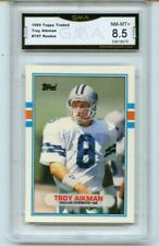 1989🔥Topps Traded #70T 🌟Troy Aikman 🏆RC ROOKIE Dallas Cowboys🏈GMA 8.5