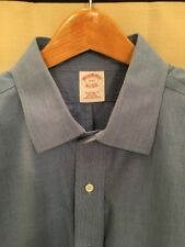 Brooks Brothers Men's Traditional Fit Non Iron French Cuff Shirt, 17-33