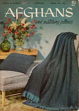 Knitting Crochet Patterns Afghans Pillows Motifs Pineapple Chevron 1954 VTNS