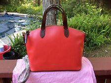 DOONEY & BOURKE SMALL GABRIELLA RED LEATHER SATCHEL SHOULDER BAG