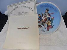 Norman Rockwell Santa's Helper Collector Plate w/ Coa 1991 Edwin M. Knowles