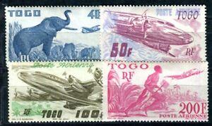 TOGO 1947 Yvert PA 17-20 * SATZ TADELLOS FGLUGPOST (F4148