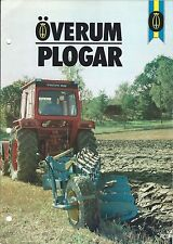 Farm Implement Brochure - Overum - Plows - 4 items - SWEDISH language (F4873)