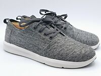 TOMS Gray Canvas Lace Up Low Top Sneakers Shoes Men's Size 7