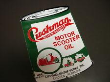 CUSHMAN Can Oil/Gasoline Porcelain Advertising Sign