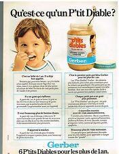 Publicité Advertising 1974 Aliments pour bébé petits pots Gerber