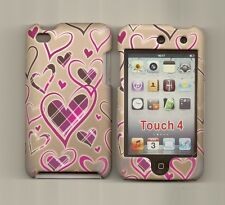 Love Heart Design Hard Cover Case Skin rubberized iPod Touch 4 4G 4TH Gen