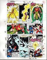 Avengers 318 Marvel original color guide art:Iron Man/Spider-man/Captain America