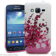 FLORAL SILICONE/GEL CASE COVER FOR SAMSUNG GALAXY EXPRESS 2 SM-G3815 + FREE SP