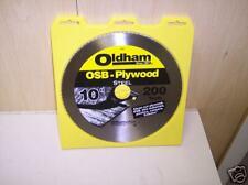 """100P OLDHAM OSB-PLYWOOD STEEL SAW BLADES 10""""200T QTY 3"""