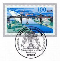 BRD 2001: Brücke Rendsburg Nr. 2178 mit dem Berliner Ersttags-Sonderstempel! 1A!