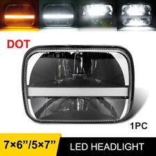 5x7 7x6 Halo Led Headlight Turn Signal Hi Lo For Jeep Cherokee Xj Wrangler Yj Fits Mustang