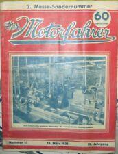 Der Motorfahrer (AT) - Nr. 11 / 1931 - 2. Messe-Sondernummer