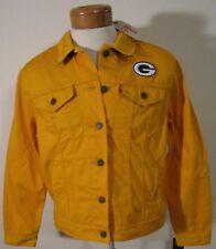 NWT Levis Green Bay Packers NFL Womens Twill Trucker Jacket XXL Gold MSRP$98