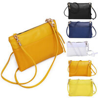 Women Leather Shoulder Crossbody Handbags Lady Clutch Messenger Bags Totes Purse