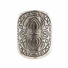 4 pcs Antique Gypsy Silver Plated Midi Rings Carved Totem Boho