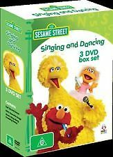 Sesame Street - Singing and Dancing (3 dvd box set)-REGION 4-Brand new-Free post