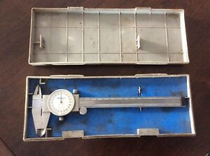 Mitutoyo Dial Vernier Caliper Model 505-626-50 With Case - Made in Japan