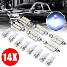 14x Interior LED Bulb Light Package Kit White For 2002-2011 Dodge Ram 1500 2500