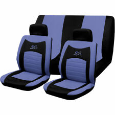 6PC UNIVERSAL FULL CAR SEAT COVER SET RS STYLE BLUE