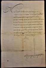 KING LOUIS XV AUTOGRAPH ON MILITARY ORDER ADDRESSED TO COUNT OF BONNEVAL 1744