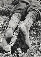 1935 ALFRED EISENSTAEDT Ethiopia Soldier Bare Feet Man Abyssinia Photo Art 16X20