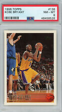Kobe Bryant Los Angeles Lakers 1996 Topps Basketball Rookie Card RC #138 PSA 8
