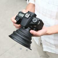 Reflection-free Collapsible Silicone Lens Hood for Camera Phone Small Black