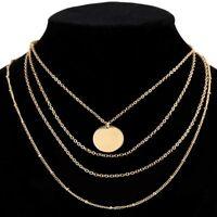 Kragen Perlen Halskette Multi-Layer-Halsband Lange Kette Statement Lätzchen