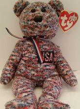 c13b3f8cadb TY BEANIE BABIES RETIRED USA PATRIOTIC JULY 4 TEDDY BEAR BEANIE BAG PLUSH 8