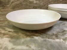 Large White Stoneware Pasta Bowls By Roscher. Set Of 4. New.