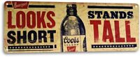 Coors Beer Logo Silver Bullet Retro Bar Pub Man Cave Wall Decor Metal Tin Sign