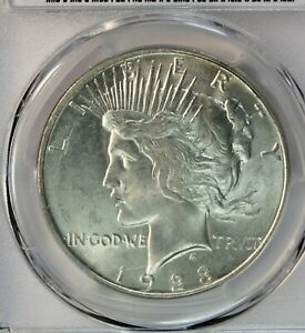 1923-D Peace Dollar. PCGS MS64. Bright White. Choice for Grade. Looks Gem.