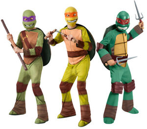 TEENAGE MUTANT NINJA TURTLES COSTUMES CHILDS TMNT HALLOWEEN FANCY DRESS BOYS
