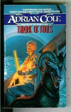 THRONE OF FOOLS by Adrian Cole, US Avon sci-fi fantasy pulp vintage pb Omaran #2