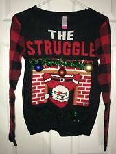The Struggle Is Real Santa Chimney SZ S/CH 3-5 Christmas Sweater No Boundaries