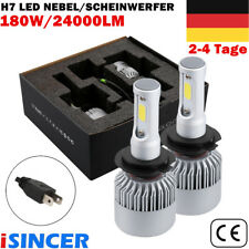 iSincer H7 180W24000LM LED COB Auto-Scheinwerfer-Kit 6000K Lampen Weiß Headlight